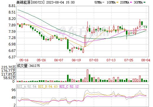 美锦能源(000723)
