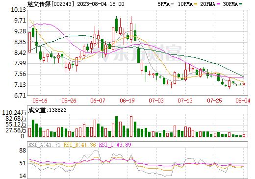 慈文传媒(002343)