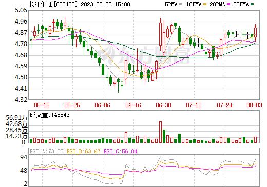 长江健康(002435)