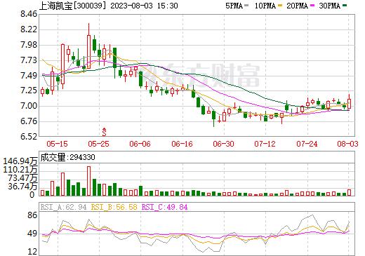 上海凯宝(300039)