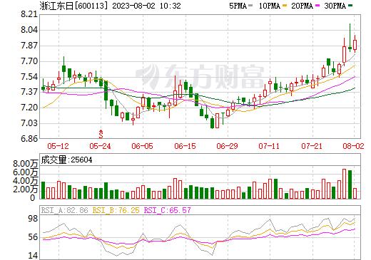 浙江东日(600113)