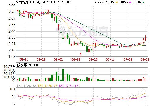 *ST中安(600654)