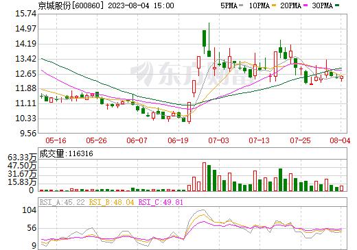 京城股份(600860)