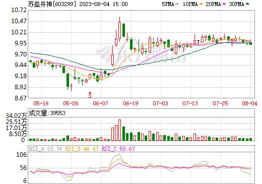 苏盐井神(603299)