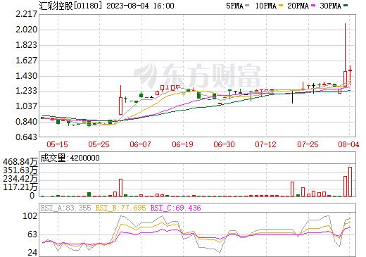 汇彩控股(01180)