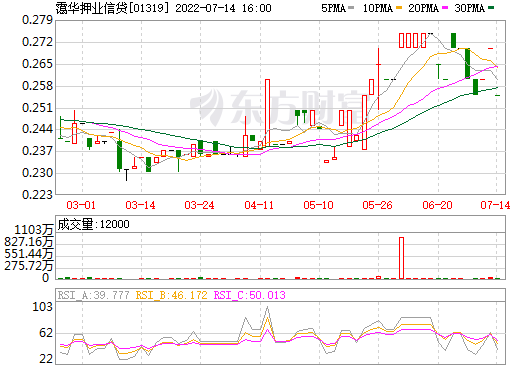 霭华押业信贷(01319)
