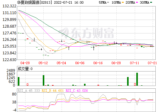 华夏政银国债(02813)