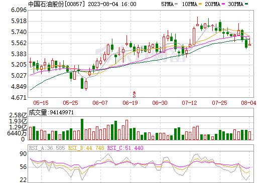 中国石油股份(00857)