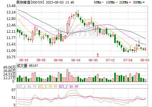 燕京啤酒(000729)