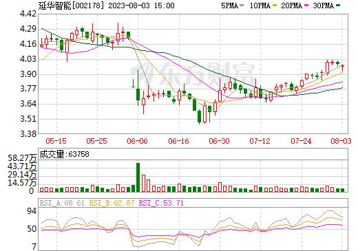 延华智能(002178)