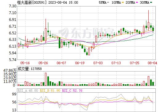 恒大高新(002591)