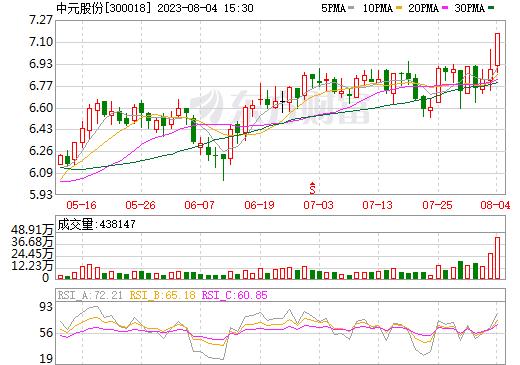 中元股份(300018)