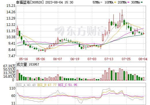 幸福蓝海(300528)