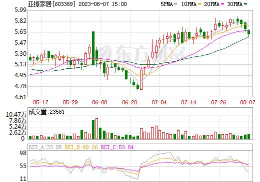 亚振家居(603389)