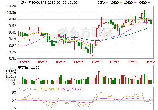 翔港科技(603499)