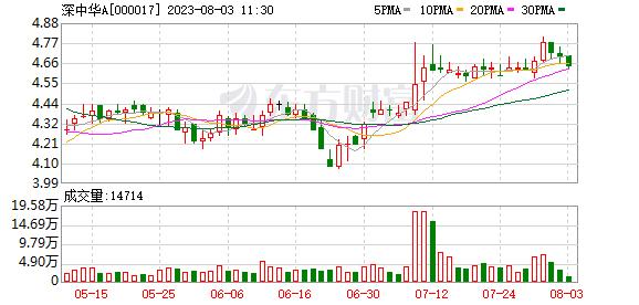 深中华A(000017)龙虎榜数据(09-02)