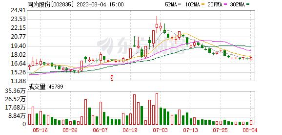同为股份(002835)龙虎榜数据(10-16)