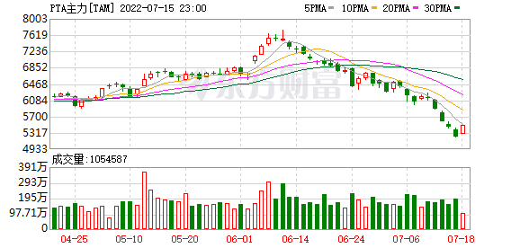 <b>瑞达期货:国际油价上涨 PTA大幅反弹</b>