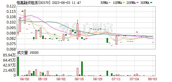 恒嘉融资租赁(00379-HK)辽宁省建添加剂生产线